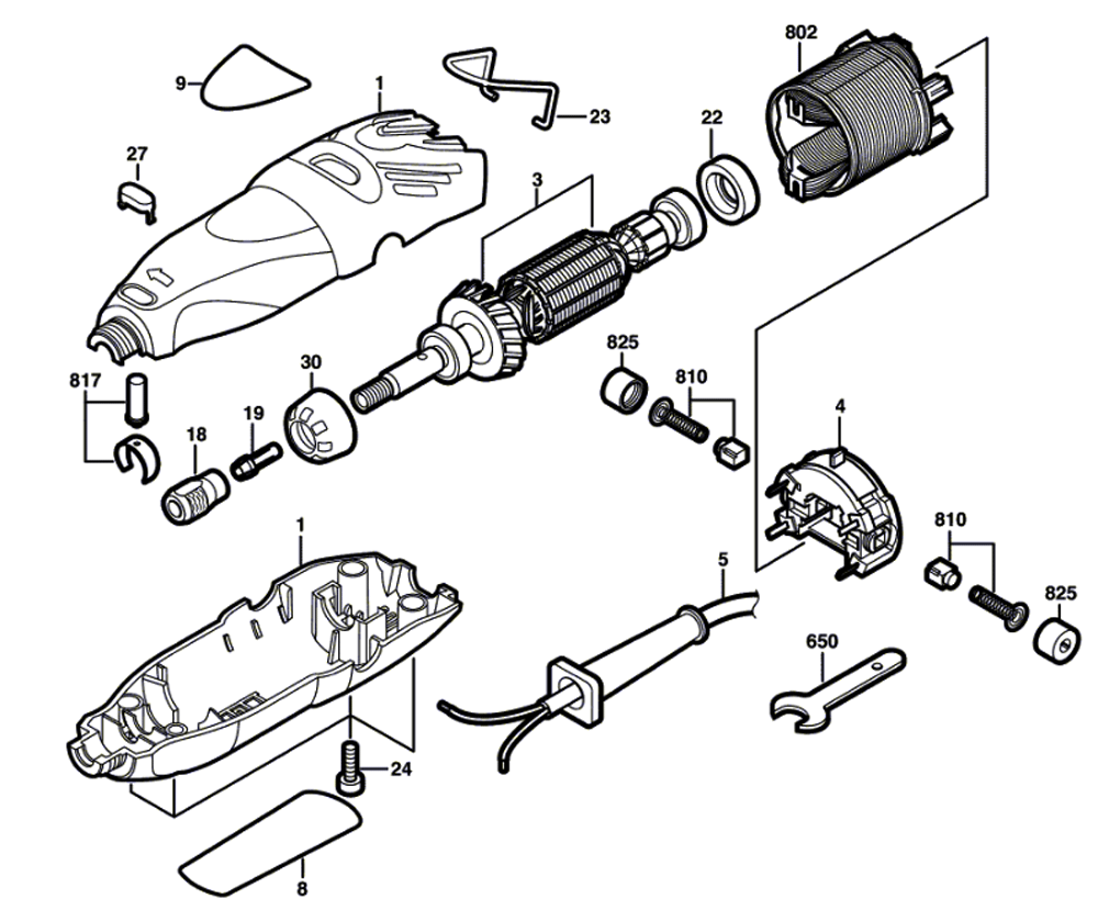 Wiring Diagram Dremel 6300 Auto Electrical Buy 300 F013030000 Replacement Tool Parts