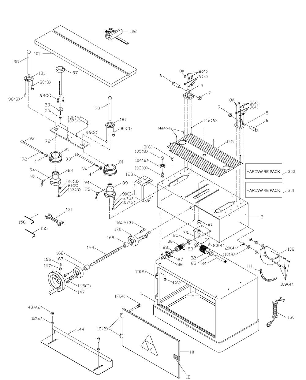 Buy Delta 31-396 Type-1 6 Inch 3 Horsepower Oscillating