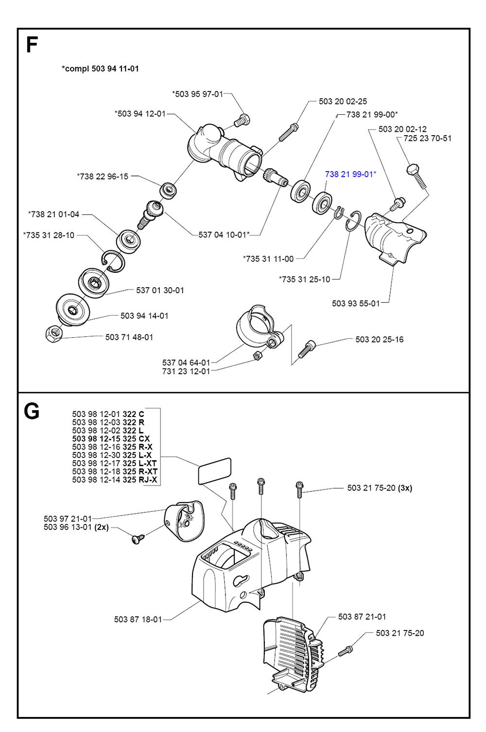 Buy Husqvarna 322 L-(I0000060) Replacement Tool Parts