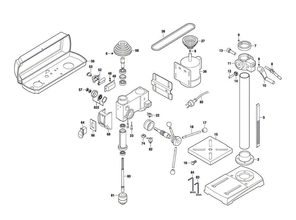 Schematic Diagram Electric Drill