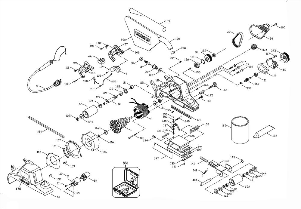 Porter Cable Random Orbital Sander Parts