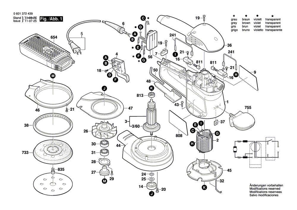 Buy Bosch 3725DEVS 5 Inch Electronic VS R.O. w/ Micro