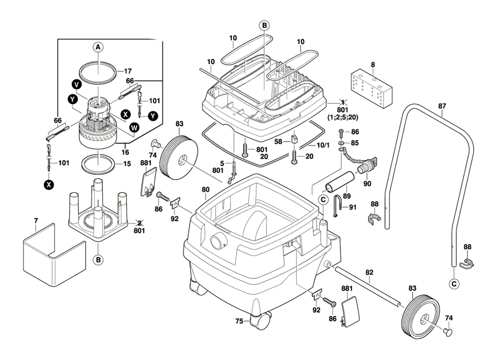 Buy Bosch 3931-(0601989139) Wet-Dry Vacuum Replacement