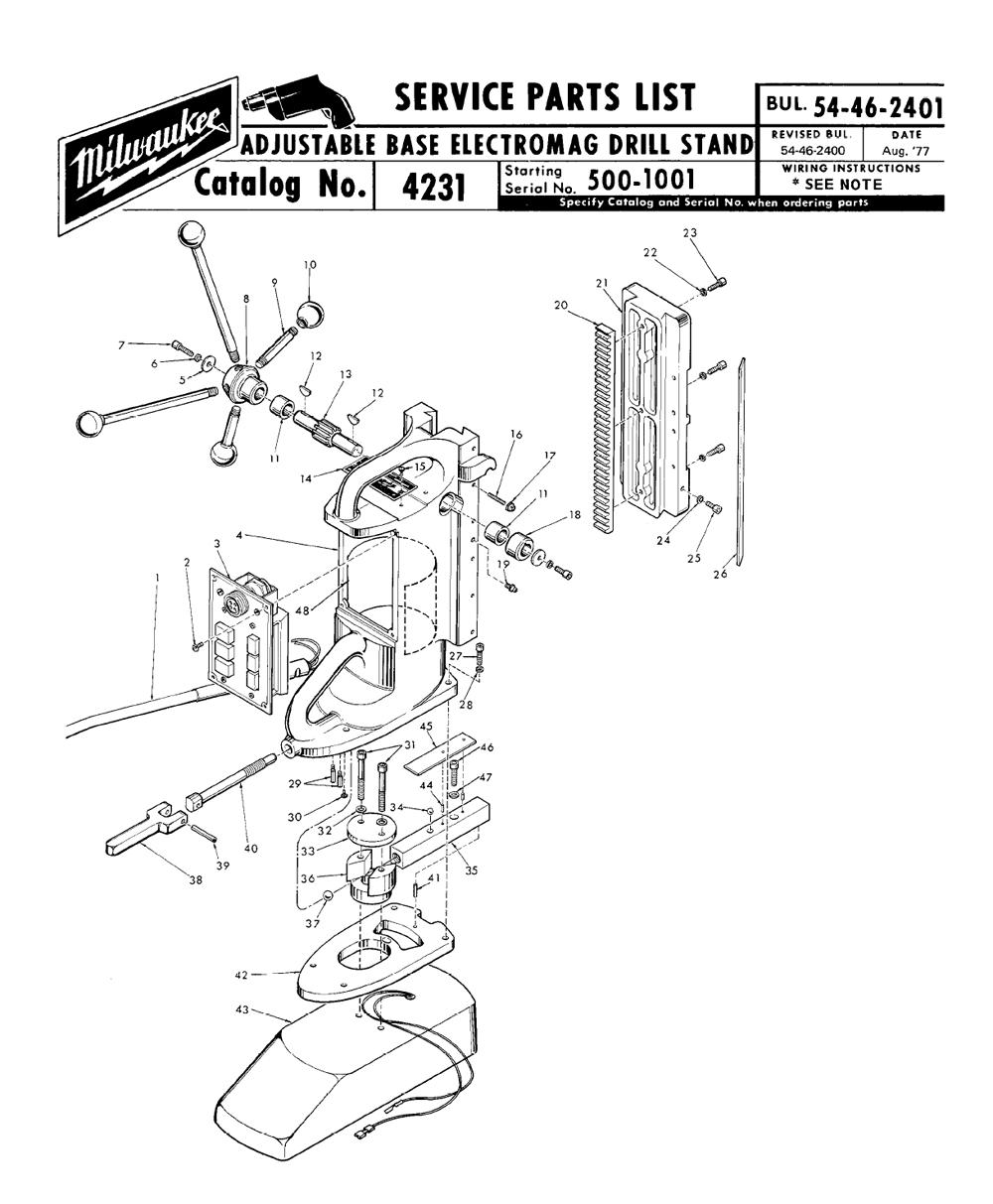 Buy Milwaukee 4231-(500-1001) adjustable base