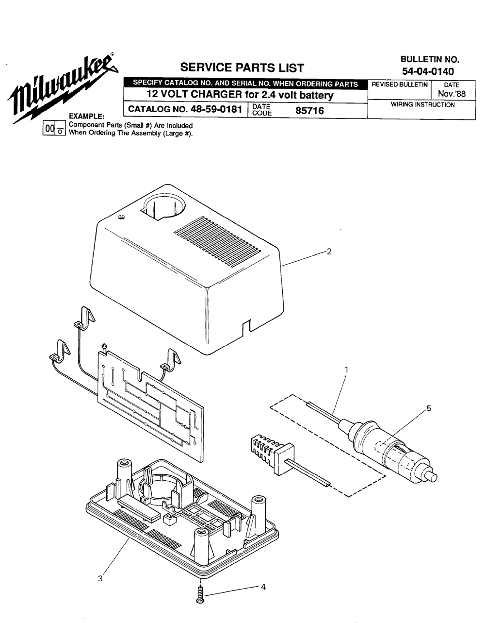Buy Milwaukee 48-59-0181-(85716) 12 volt charger for 2.4