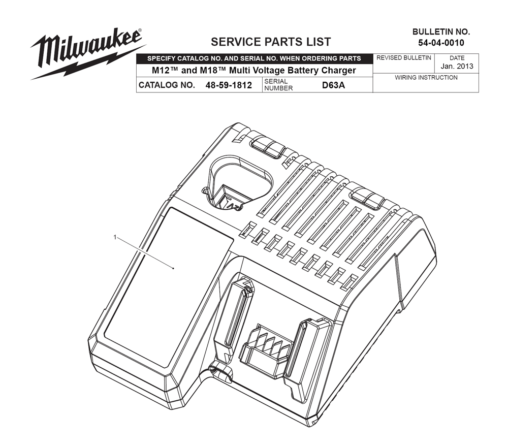 Buy Milwaukee 48-59-1812-(D63A) M18 & M12 Multi-Voltage