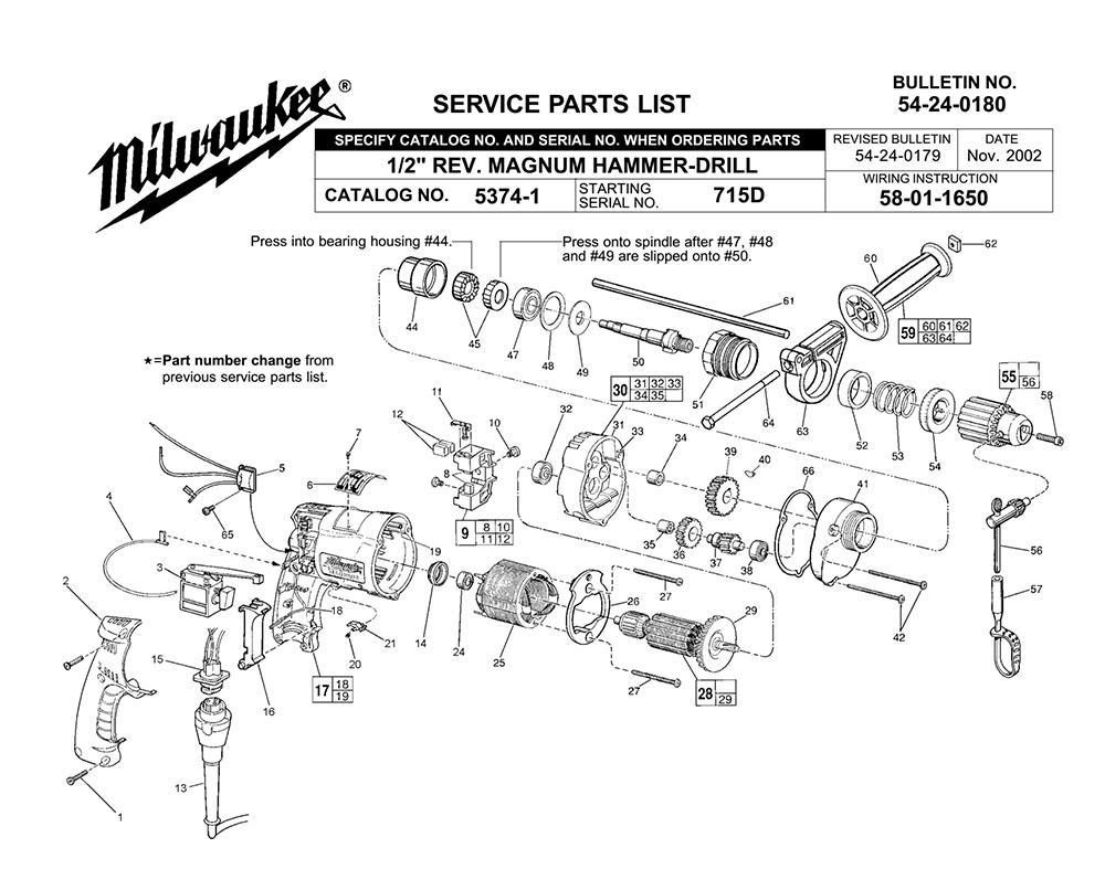 Buy Milwaukee 5374-1-(715D) 1/2