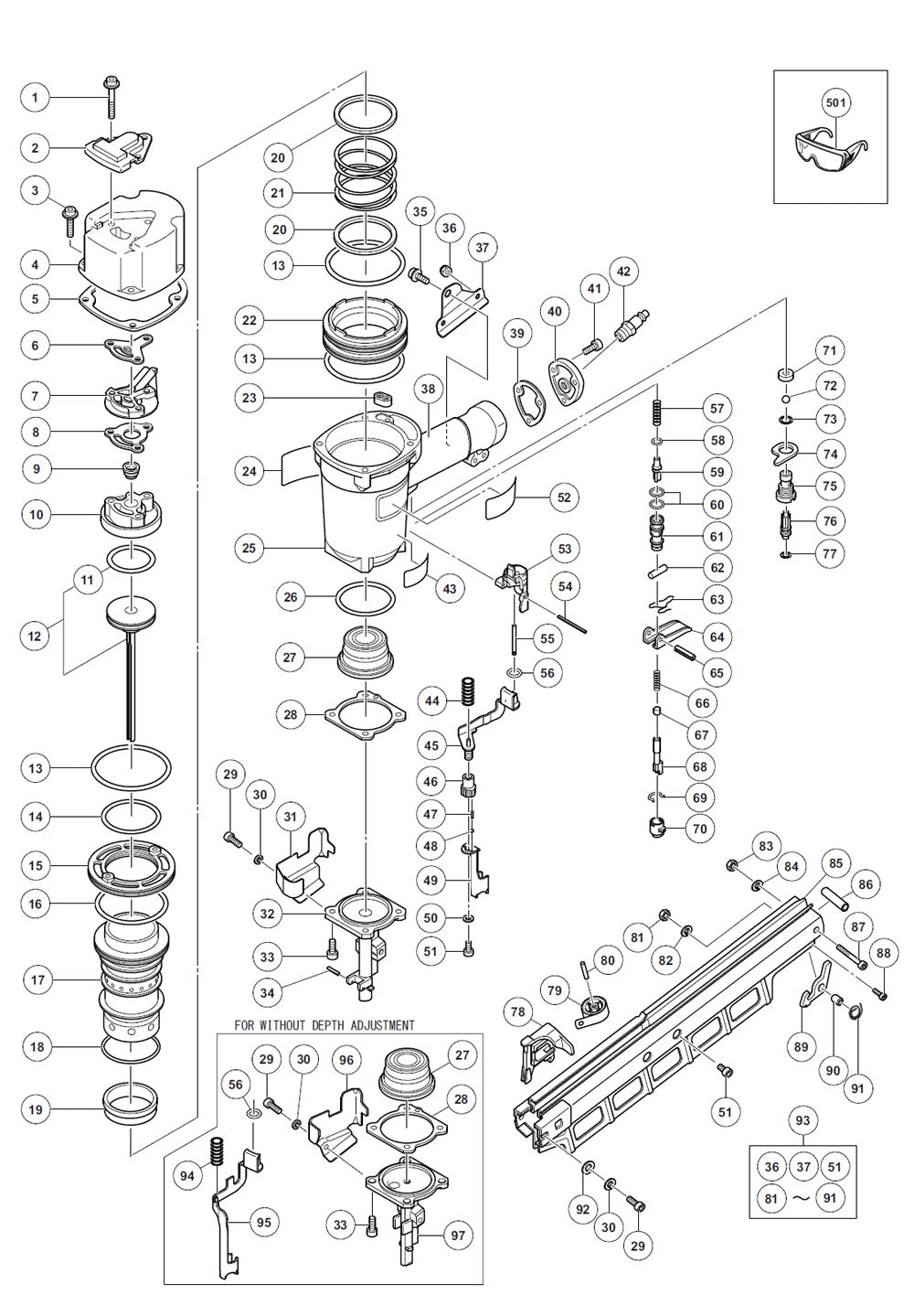 Buy Hitachi NR83A3(S) 3-1/4