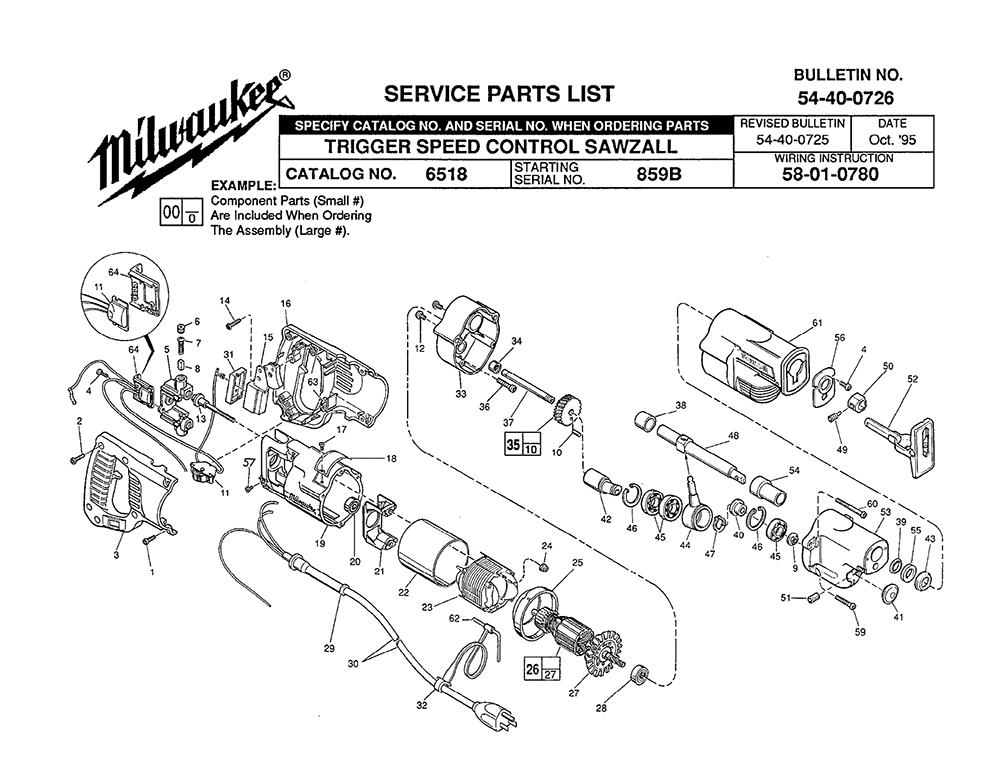 Old Milwaukee Sawzall Wiring Diagram : 36 Wiring Diagram
