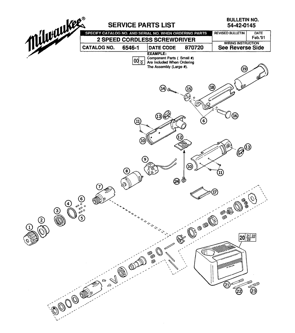 Buy Milwaukee 6546-1-(870720) two speed cordless