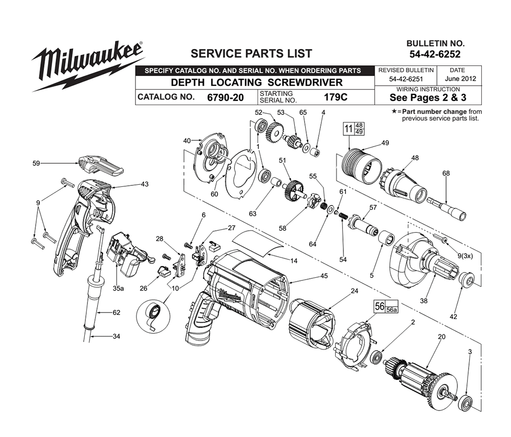 Buy Milwaukee 6790-20-(179C) Replacement Tool Parts