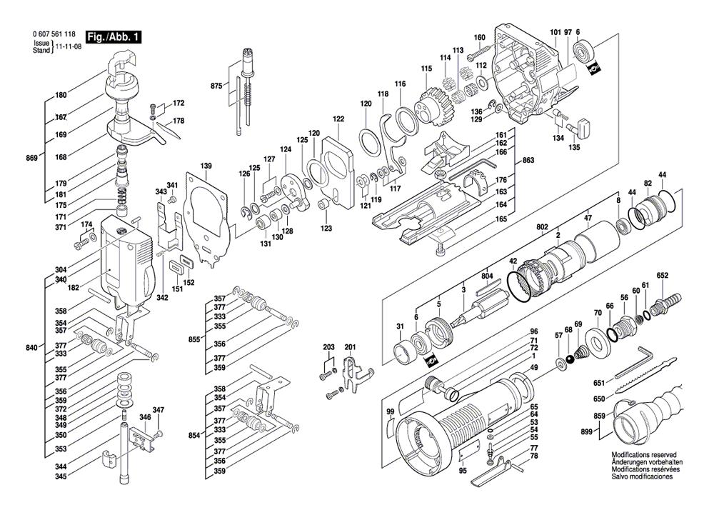 Buy bosch 7561-118 Orbital Action Pneumatic Jigsaw w/ Tool