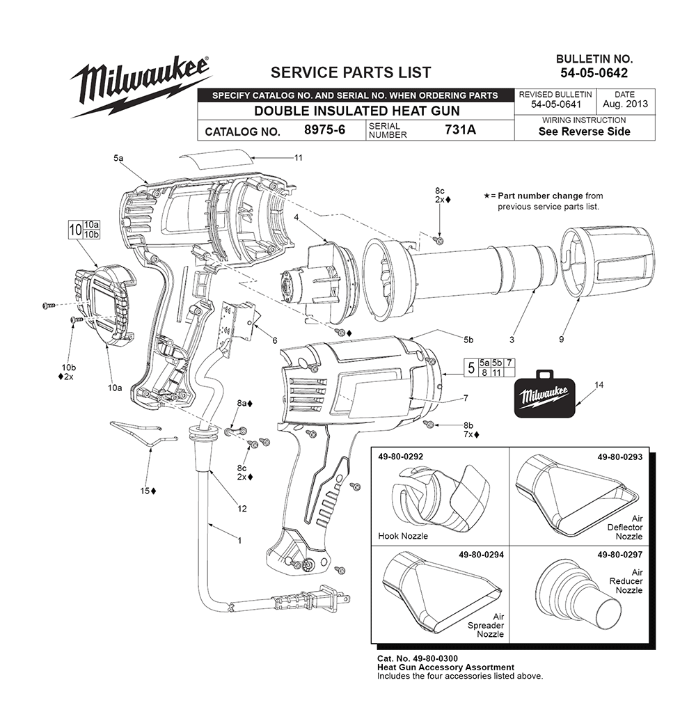 Buy Milwaukee 8985-(731A) Replacement Tool Parts