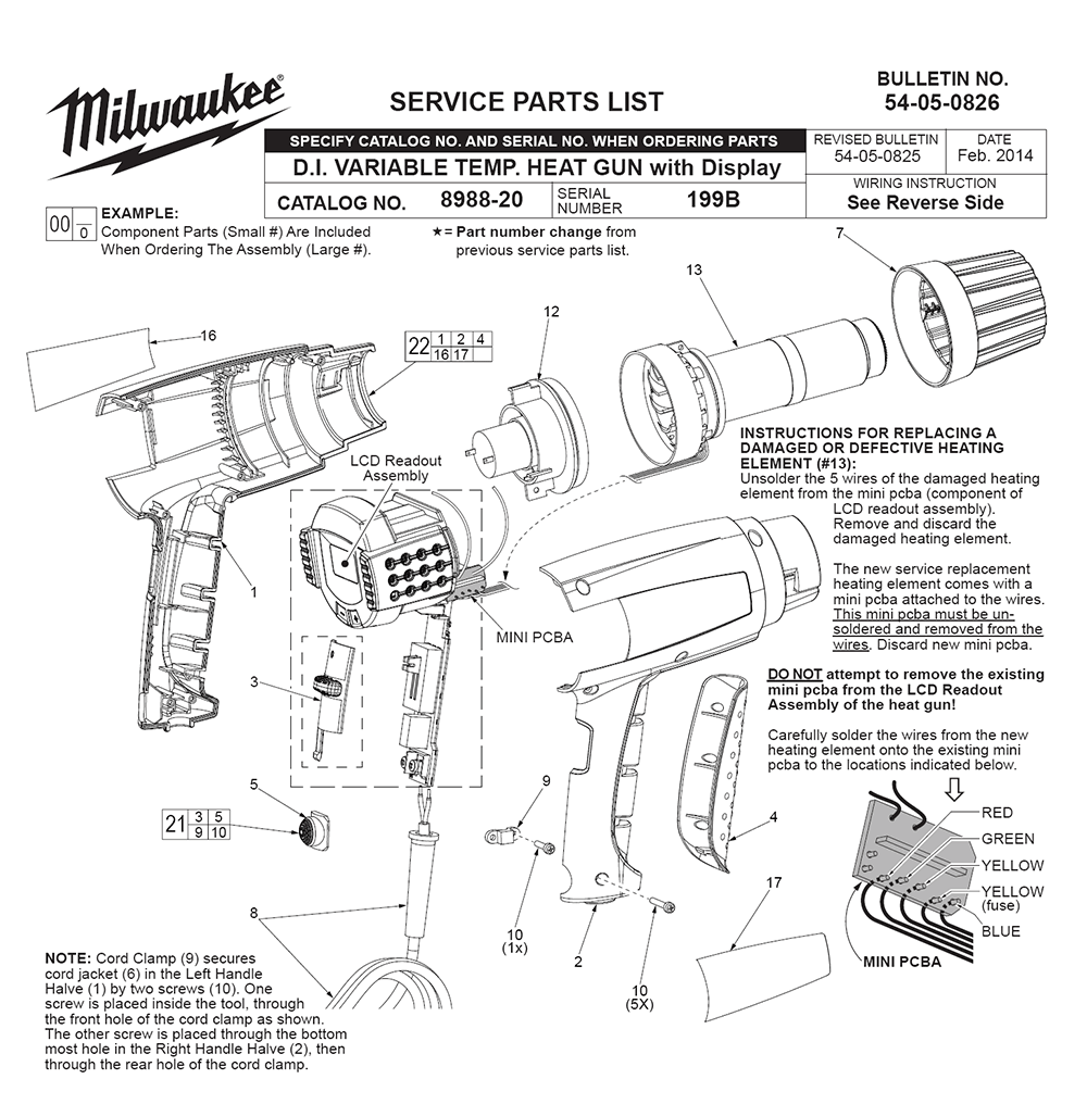 Buy Milwaukee 8988-20-(199B) Replacement Tool Parts