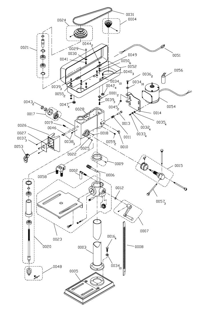 Westward Drill Press Wiring Diagram