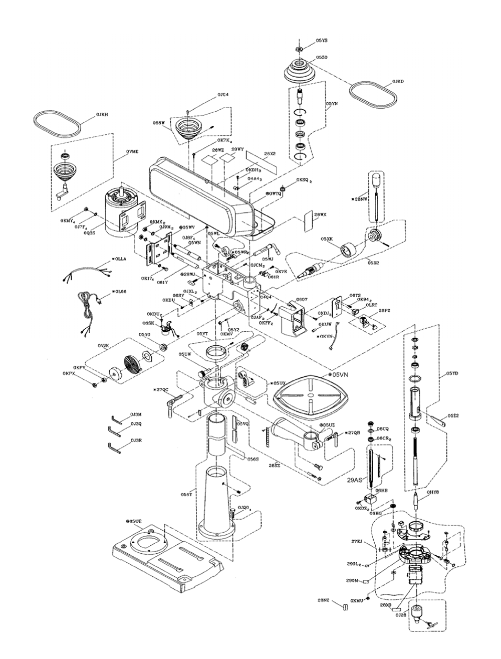 Drill Press Parts Diagram Pictures to Pin on Pinterest