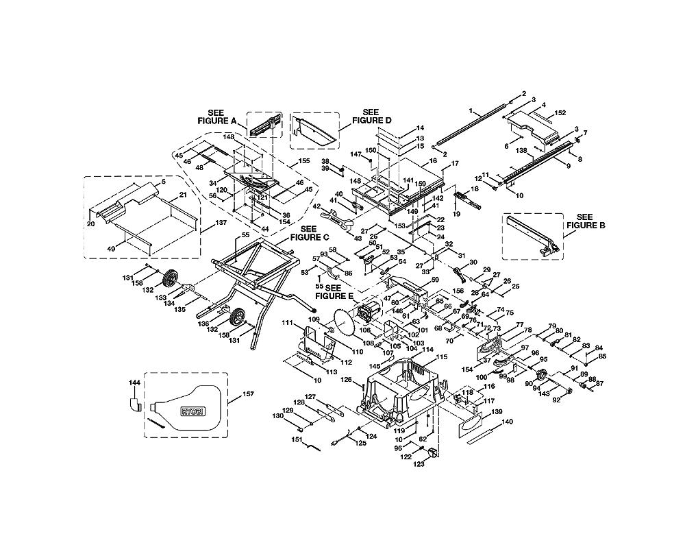 Ridgid Table Saw Parts Manual
