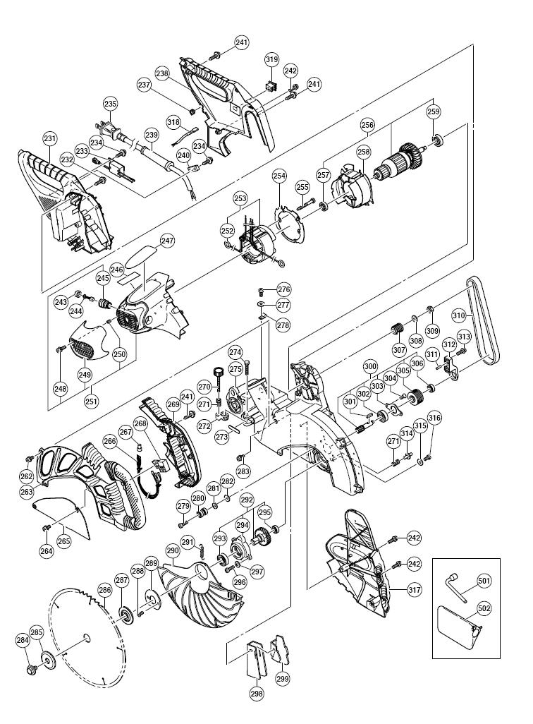 Hitachi C12rsh Miter Saw Figure A Parts