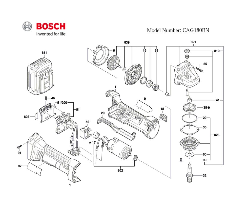Buy Bosch CAG180BN-(3601J3A310) 4-1/2 In. 18 V Cordless