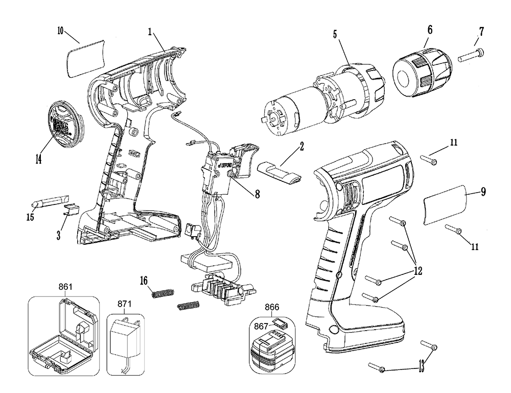 De Walt Cordless Drill Parts Diagram, De, Free Engine
