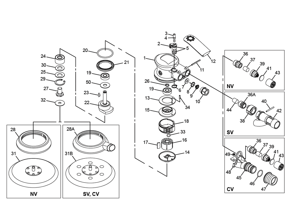 Buy Chicago Pneumatic CP7215CV Random Orbital w/ 10mm