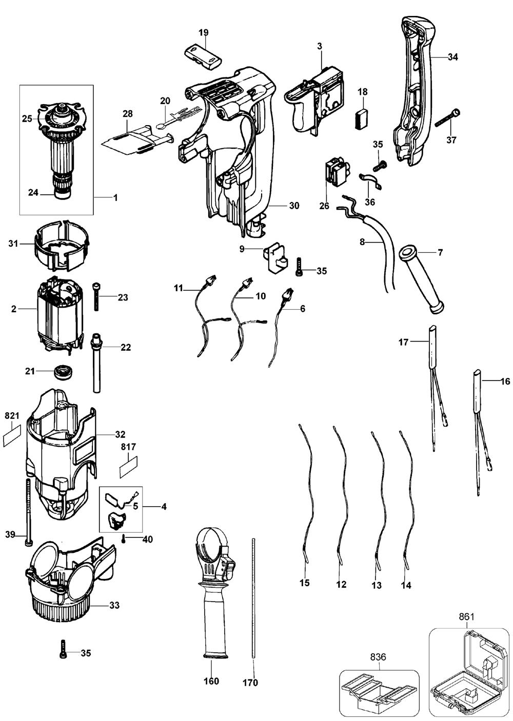 Dewalt Hammer Drill Wiring Diagram De Walt Cordless Hammer