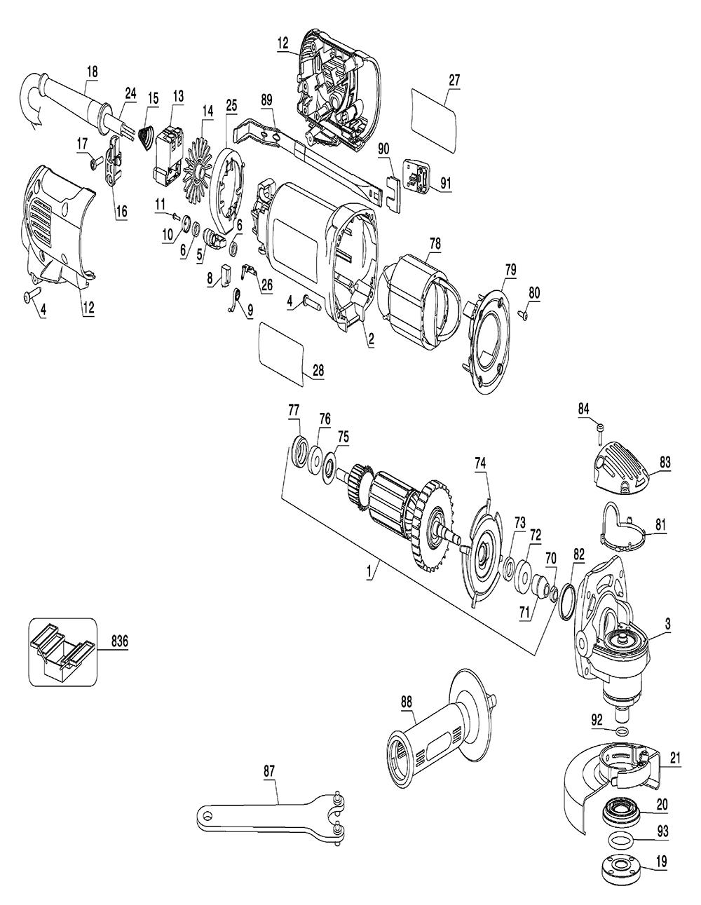 Buy Dewalt D28112-BR Type-2 4-1/2 Inch (115mm) Heavy Duty