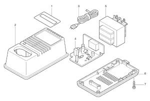 Buy Makita DC7100 Replacement Tool Parts | Makita DC7100