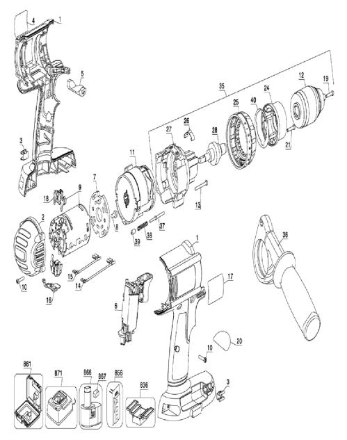small resolution of oem dewalt cordless drill keyless chuck n196034 ships