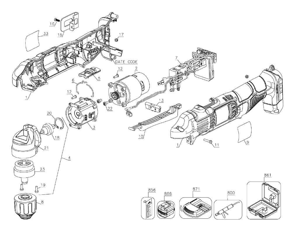 Buy Dewalt DCD740B Type-1 20V MAX Li-Ion Right Angle