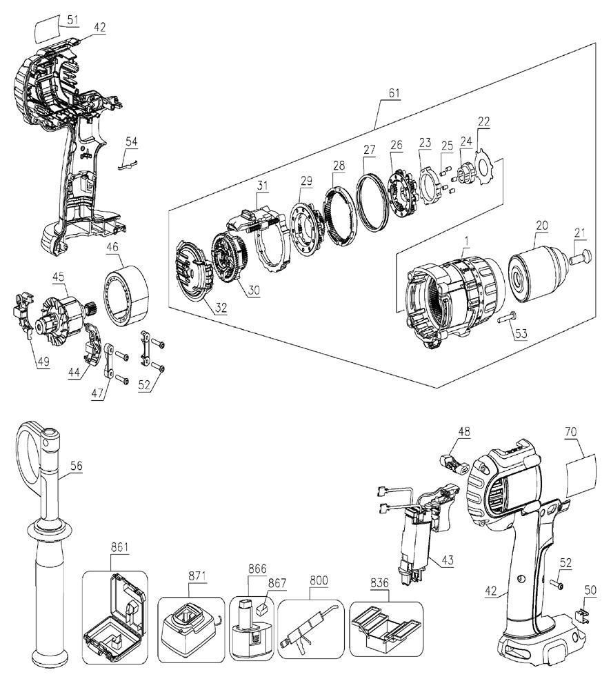 Dewalt Hammer Drill Wiring Diagram : 34 Wiring Diagram