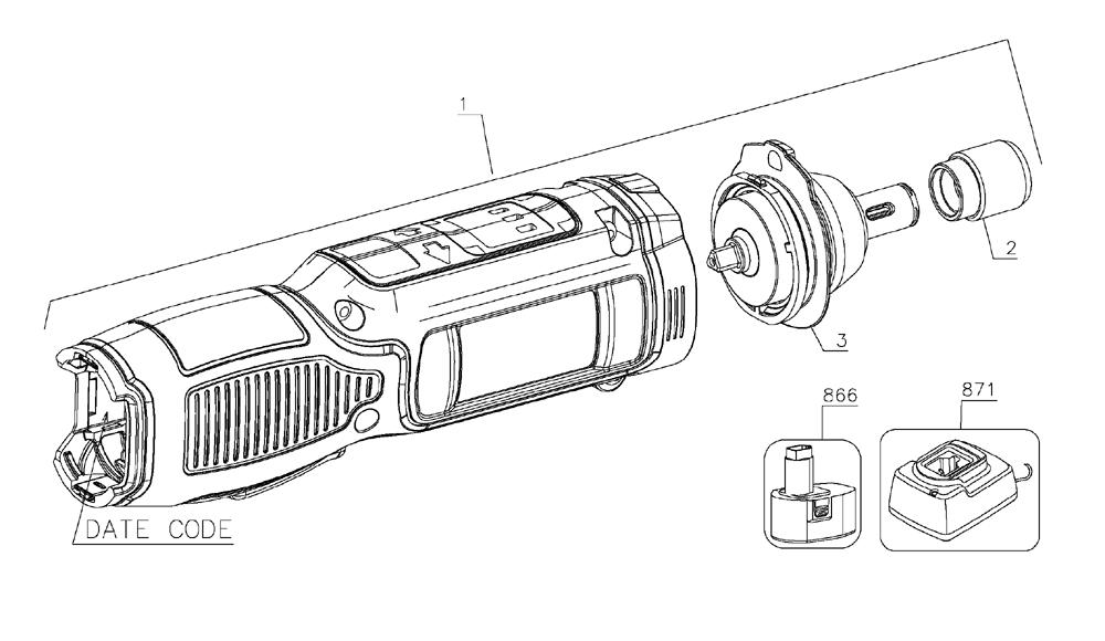 Buy Dewalt DCF682N1 Type-1 8V MAX Gyroscopic Inline