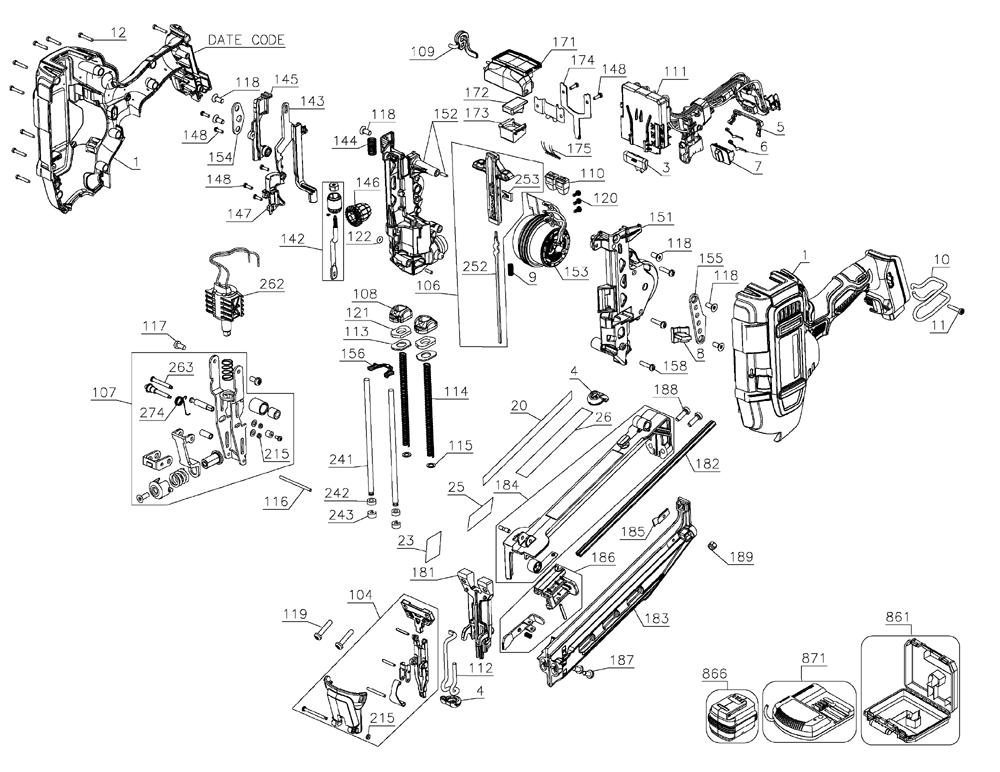 Buy Dewalt DCN660D1 Type-1 20 V MAX* 16 Gauge Angled
