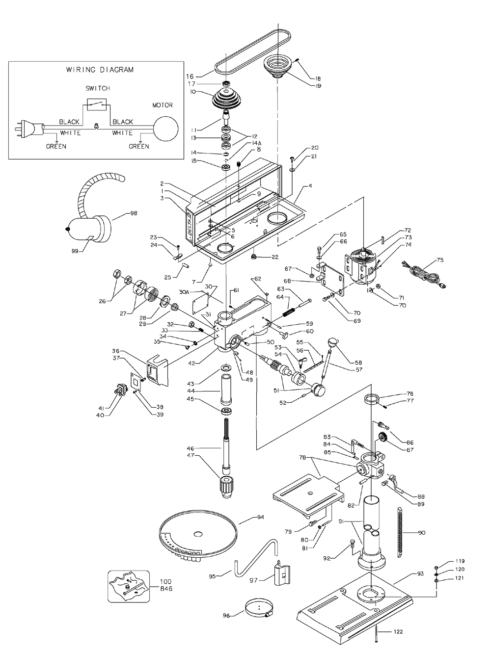 Jet Drill Press Parts Diagram Jet Table Saw Features