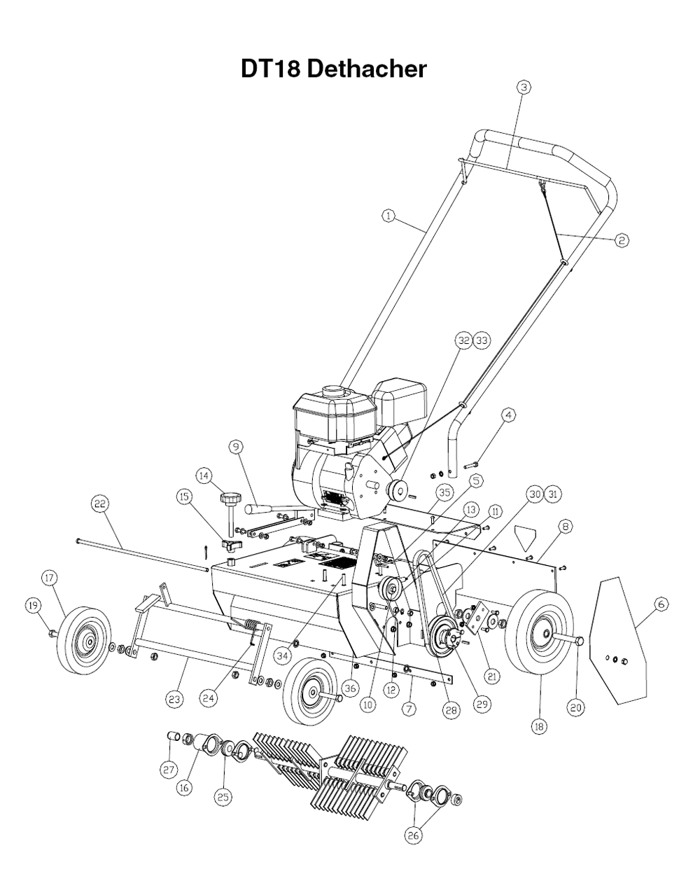 Buy Husqvarna DT18 (968981007) Replacement Tool Parts