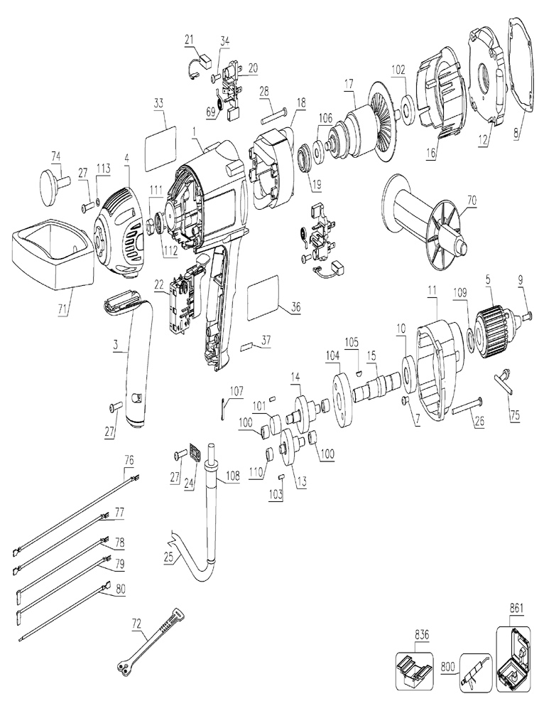Image Of Wiring Diagram Dw 124 Dewalt Drill Dewalt 1 2 Vsr