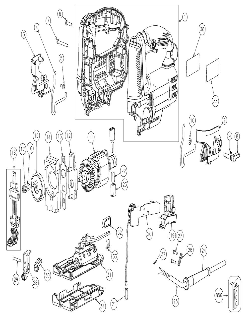 Craftsman Miter Saw Wiring Diagram Craftsman Finish Saw