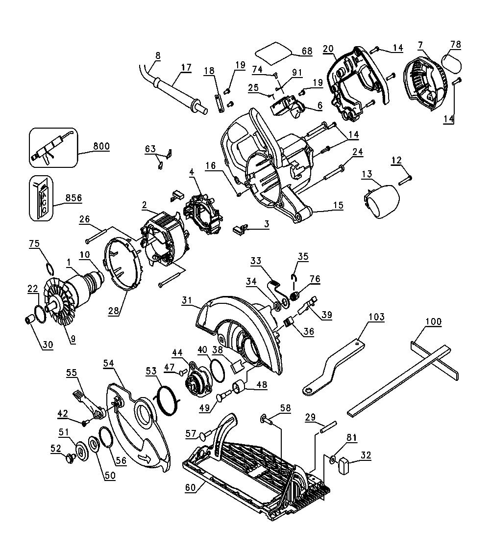 dewalt dw368 circular saw parts type 1