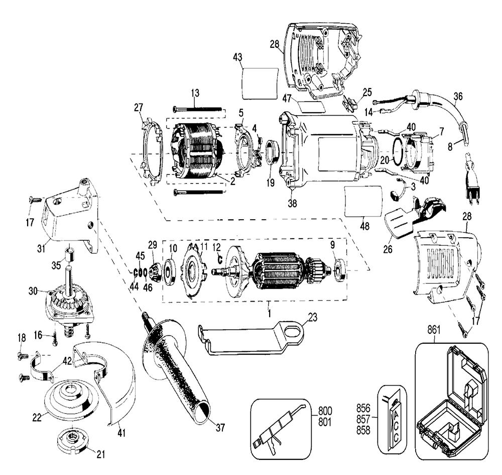 De Walt Grinder Parts Diagram Makita Grinder Parts