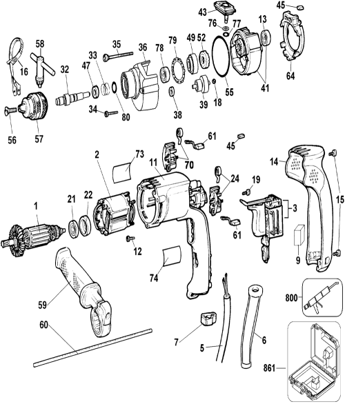 small resolution of buy ridgid r7122 replacement tool parts schematic of an electric drill buy dewalt dw511 type 3 heavy duty 1
