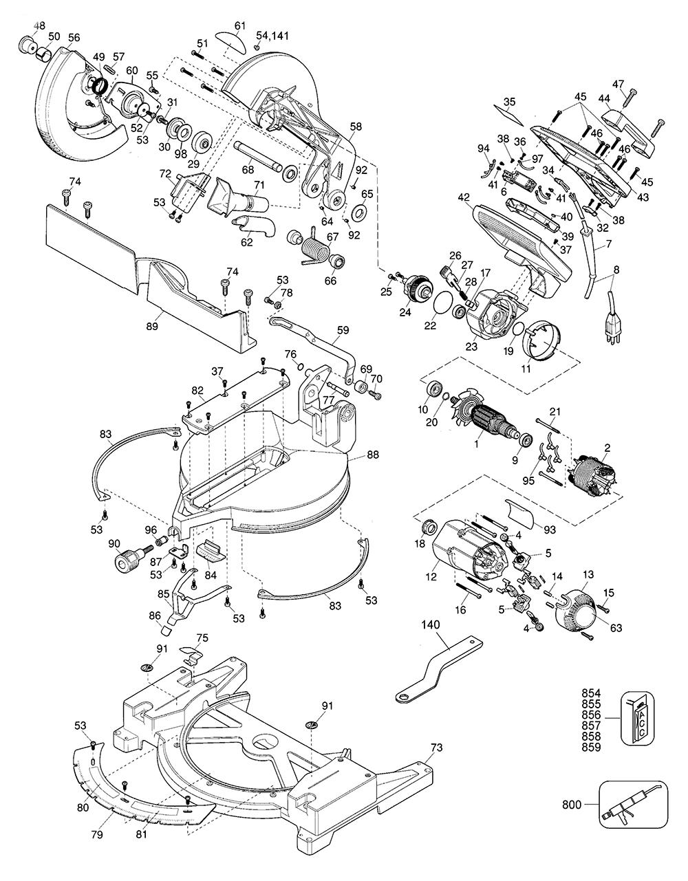 hight resolution of dewalt miter saw wiring diagram dw715 wiring diagram chainsaw parts craftsman chainsaw diagram 358 355061