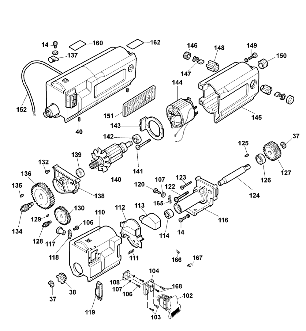 Dewalt Dw708 Parts Diagram De Walt Electric Miter Saw