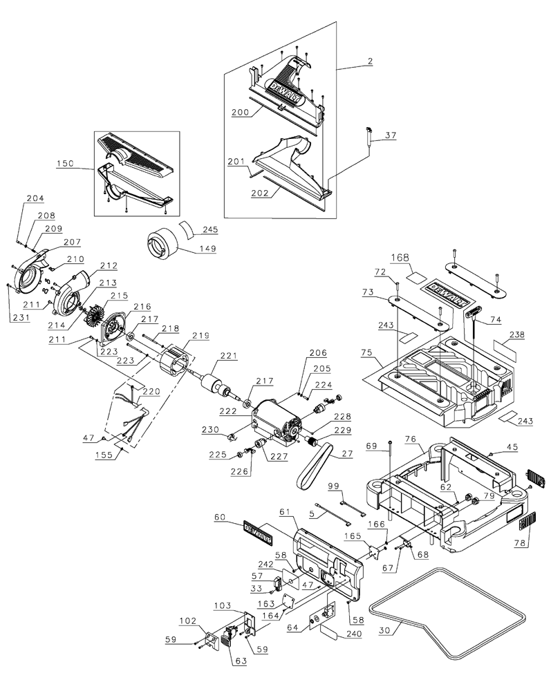 Dewalt Thickness Planer Dw735 Parts