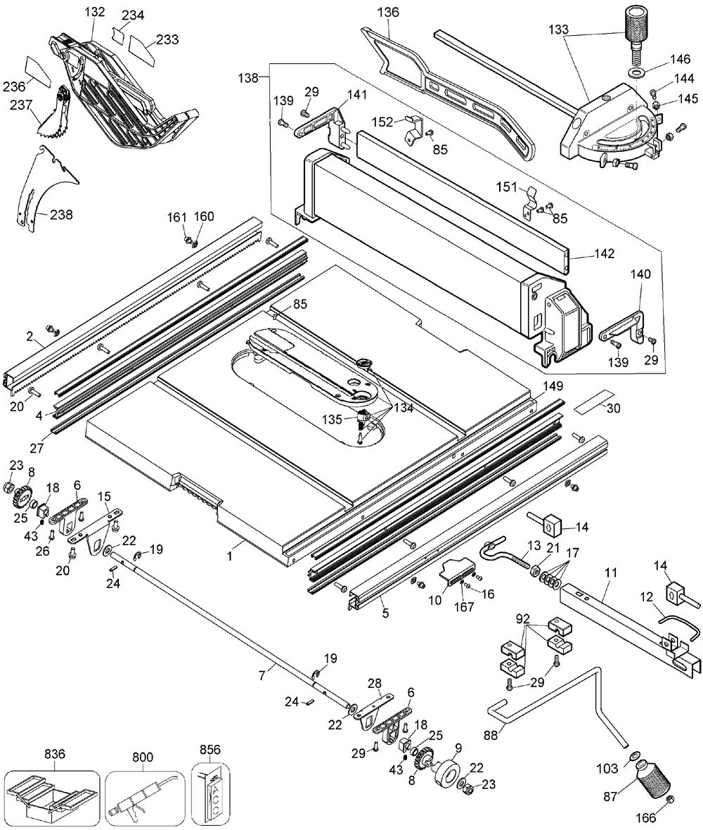 Buy DeWalt DW744X Type-6 10 Inch Jobsite Table Replacement