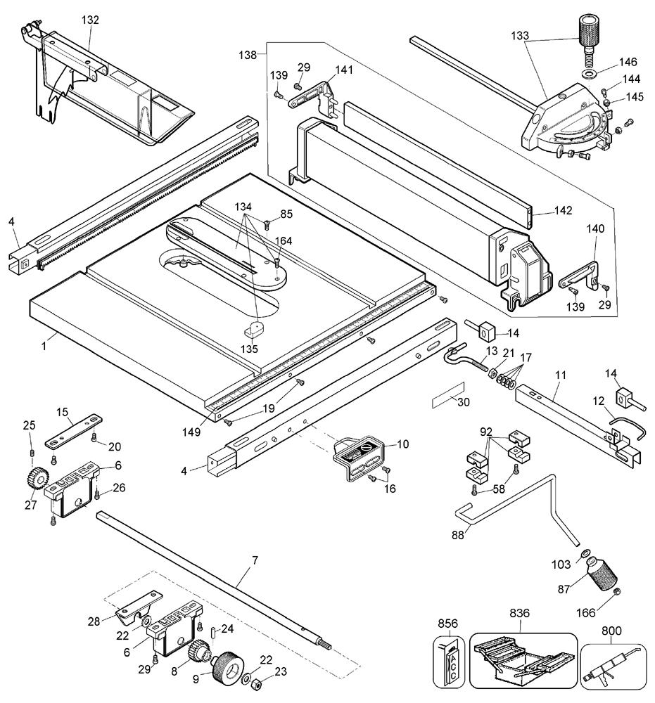 Buy DeWalt DW744X Type-4 10 Inch Jobsite Table Replacement