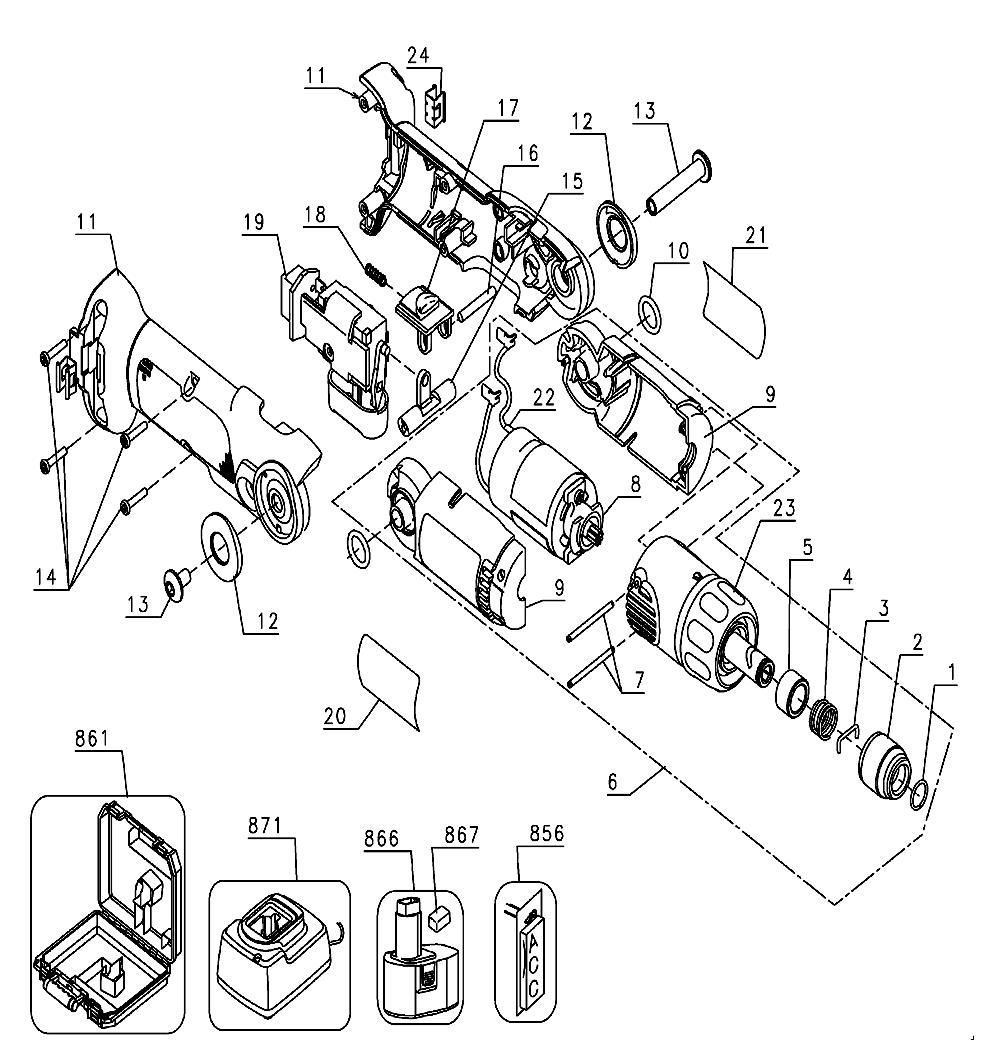 Buy Dewalt DW920K2-BR Type-1 Replacement Tool Parts