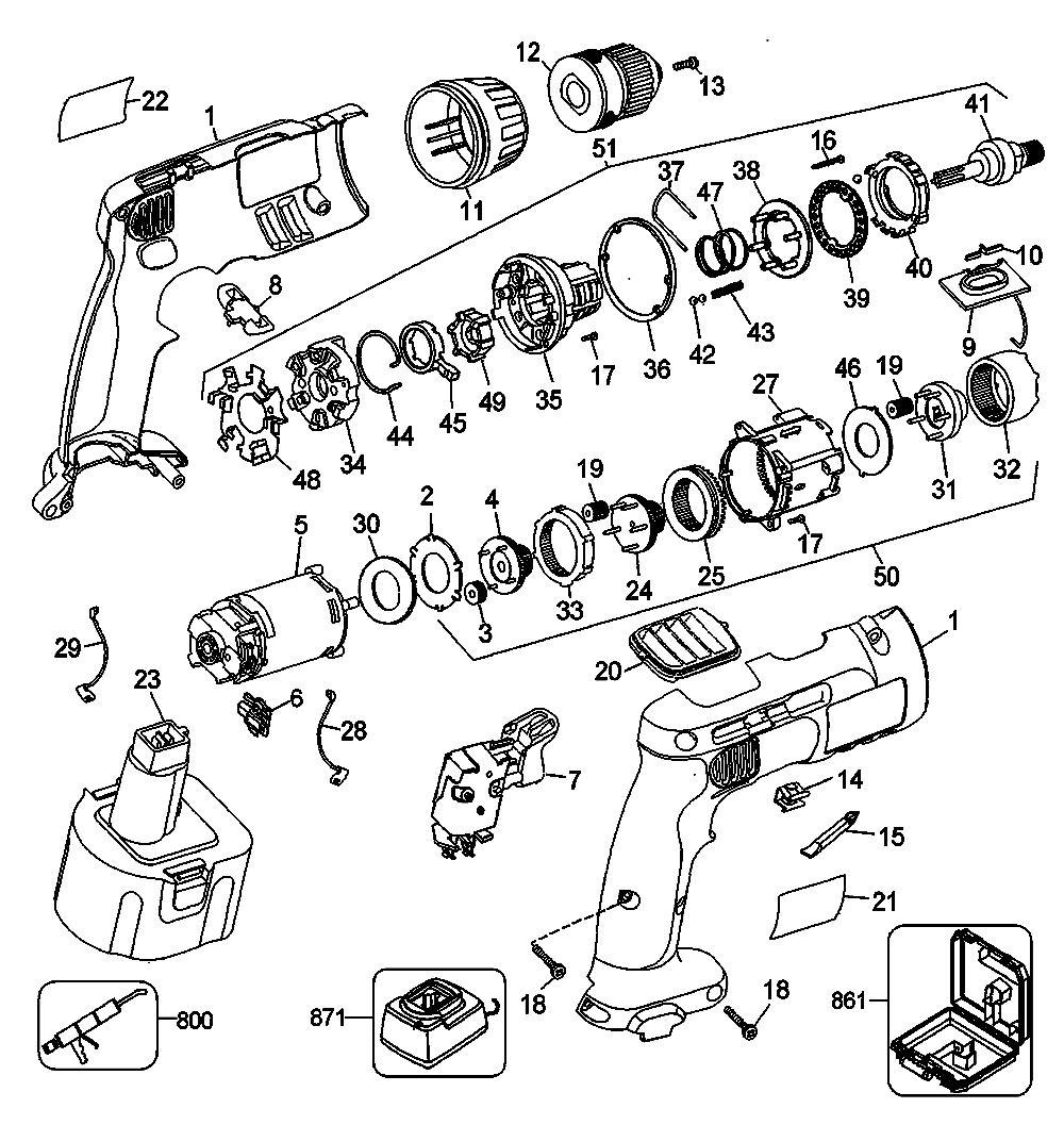 Wiring Diagram Dewalt Saw Dewalt Gearbox ~ Elsavadorla