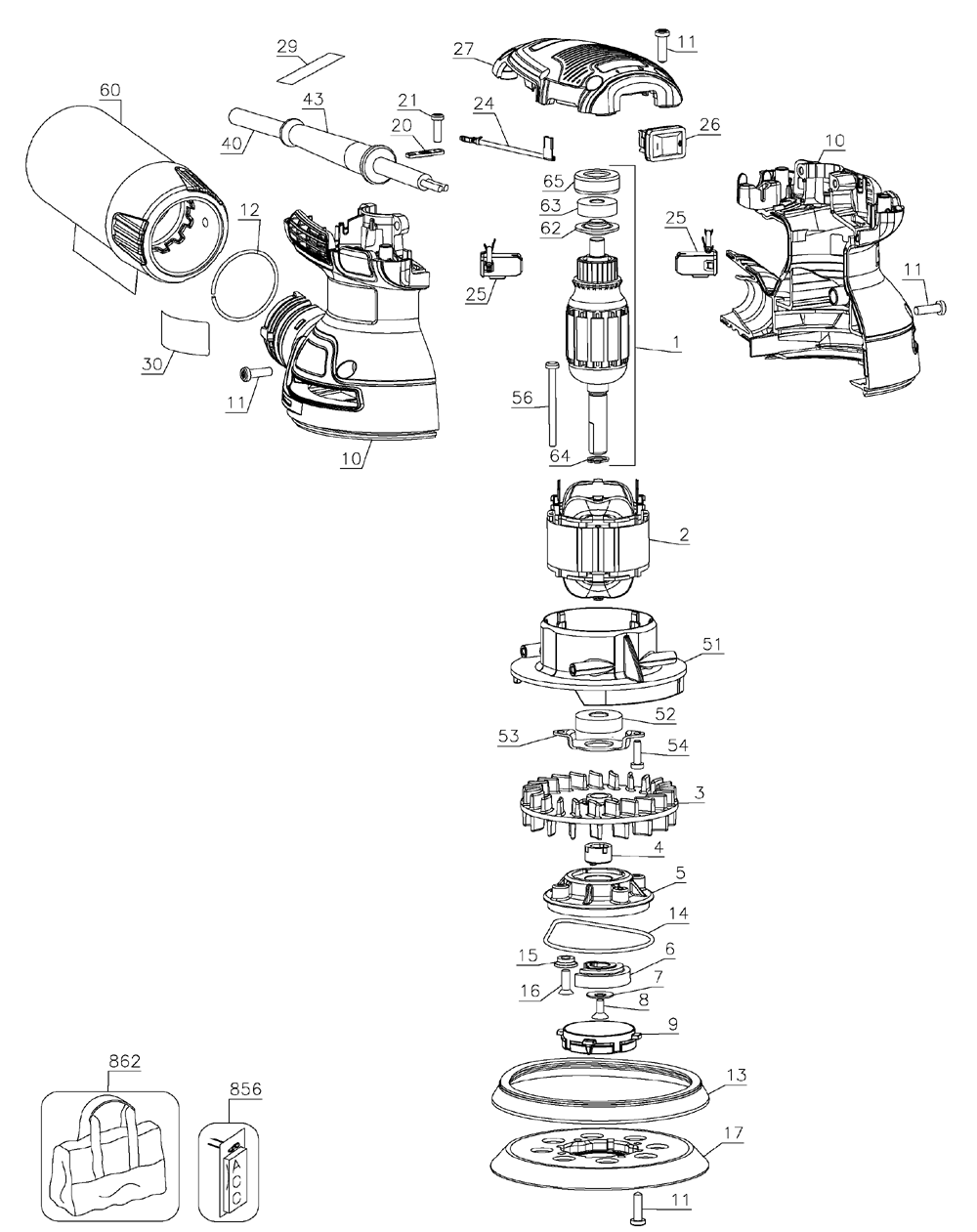 wiring diagram dewalt 5 random orbit sander