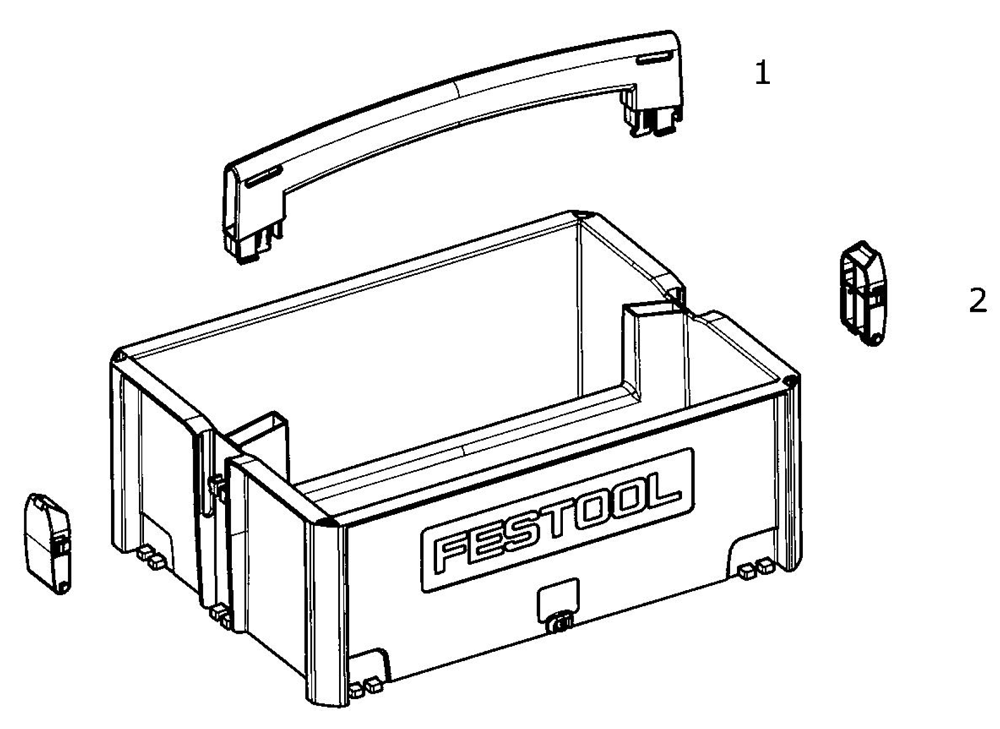 Buy Festool 495024 SYS tool box Replacement Tool Parts