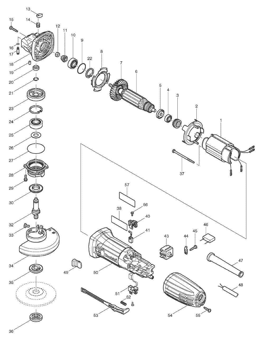 makita grinder wiring diagram